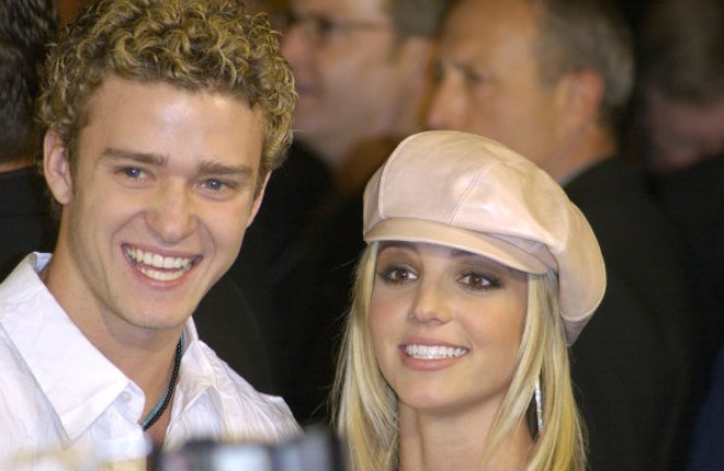 Britney with her boy band boyfriend before the fall ... or was it really her ascension? - SHUTTERSTOCK/JAGUAR PS