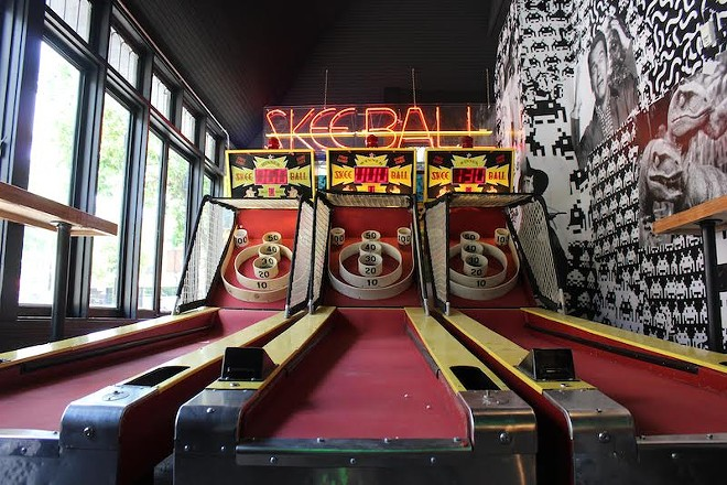 Try your hand at Skee-Ball. - KATIE COUNTS