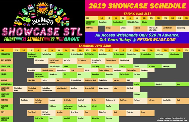 Use this handy grid to map out your adventure through St. Louis music.