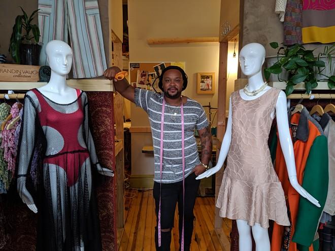 Brandin Vaughn in his Cherokee storefront. - JOSHUA PHELPS