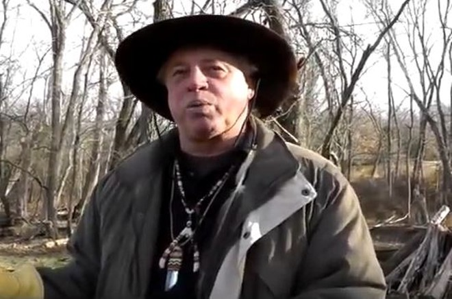 "Kenn ""Grey Elk"" Descombes, chief of the Missouri-based Northern Cherokee Nation. - SCREENSHOT VIA YOUTUBE"