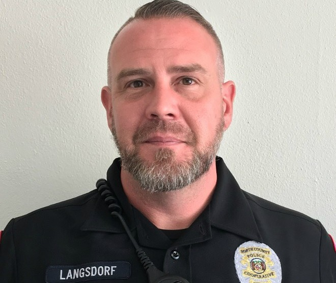 Officer Michael Langsdorf was killed on Sunday afternoon. - COURTESY NORTH COUNTY POLICE COOPERATIVE