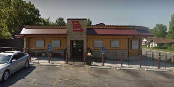 Clay's Wellston Food Market was the scene of a drive by shooting last night, just ten days after a police officer was killed there. - VIA GOOGLE MAPS