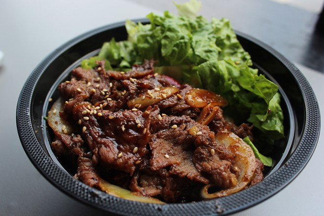 BoB.Q offers four types of bowls served with rice and vegetables, including the beef bulgogi bowl. - KATIE COUNTS