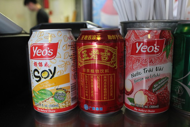 Beverages include the Malaysian fruit drink Yeo's. - KATIE COUNTS