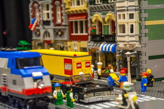Lego cityscapes and scenes fill the Greensfelder Recreation Center this weekend. - COURTESY OF BRICKUNIVERSE