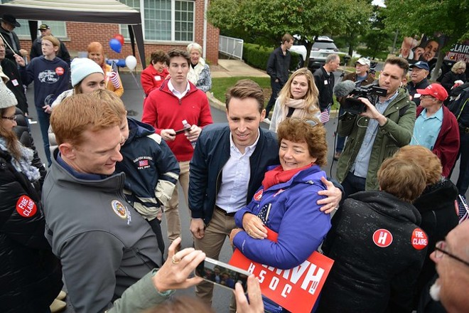 Republican darling and anti-cosmopolitan politician Josh Hawley. - TOM HELLAUER