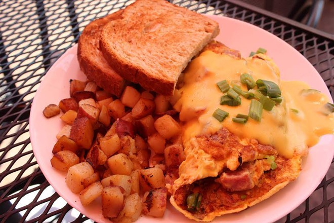 Every month, executive chef Danny Ball rotates the brunch menu. - KATIE COUNTS