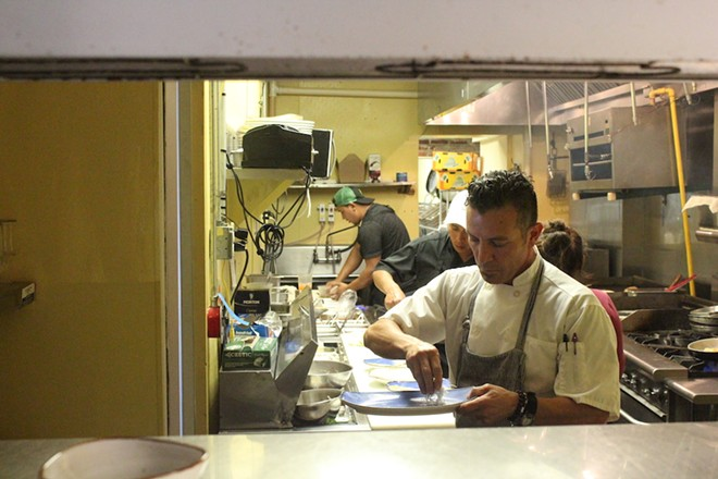 Chef Tello Carreon brings his impressive culinary talent to Alta Calle. - KATIE COUNTS