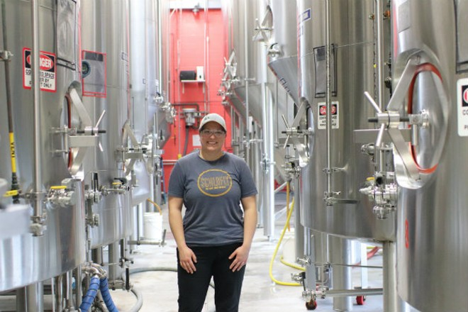 Emily Byrne always knew she had a passion for fermentation, but it took a winemaking gig to make her love brewing beer. - COURTESY OF SCHLAFLY BEER