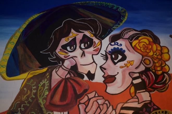 The restaurant is decorated in a Dia de los Muertos theme. - CHERYL BAEHR