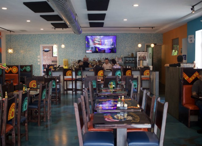 La Catrina's dining room is a colorful place to enjoy a meal. - CHERYL BAEHR
