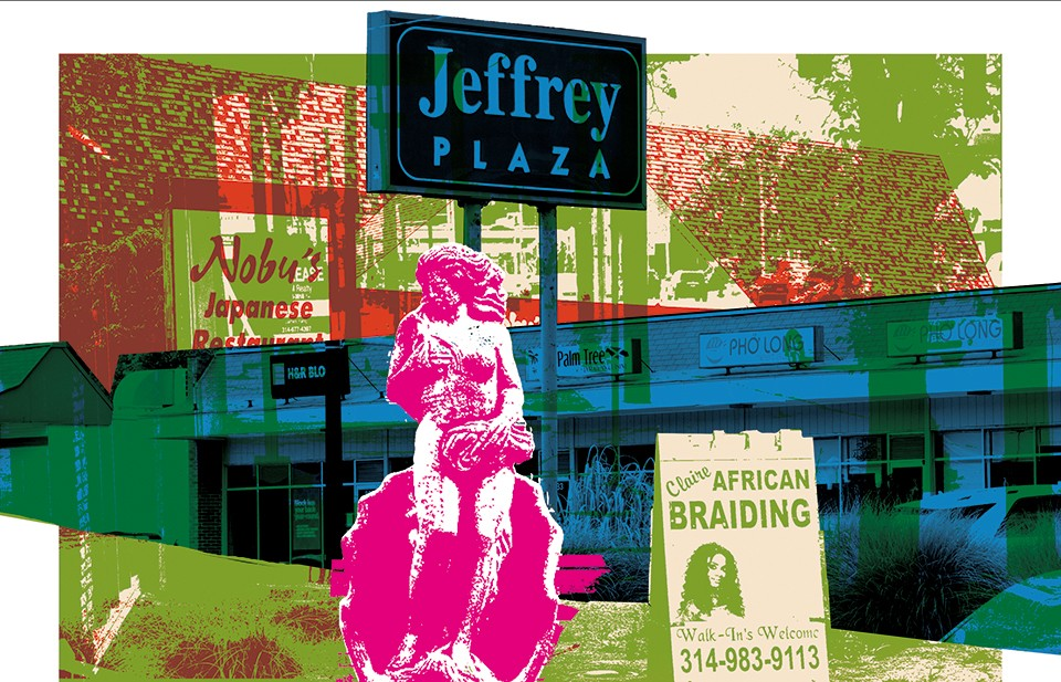 Immigrant-owned businesses have started filing out of Jeffrey Plaza as plans to demolish the shopping center for a Costco move forward.