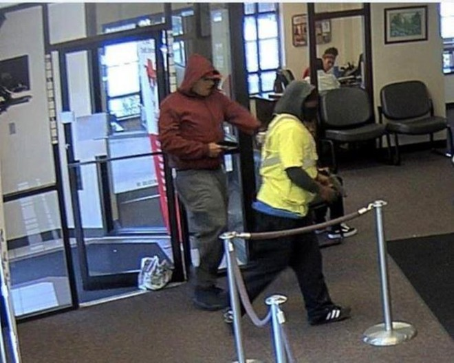 The FBI says McKee, right, and a partner robbed a St. Louis Community Credit Union in 2018. - COURTESY FBI