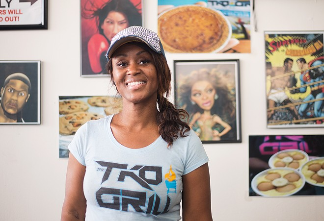 "TKO Grill chef-owner Toronza ""Tee"" Cozart's menu is inspired by family recipes handed down to her from her mother. - MABEL SUEN"