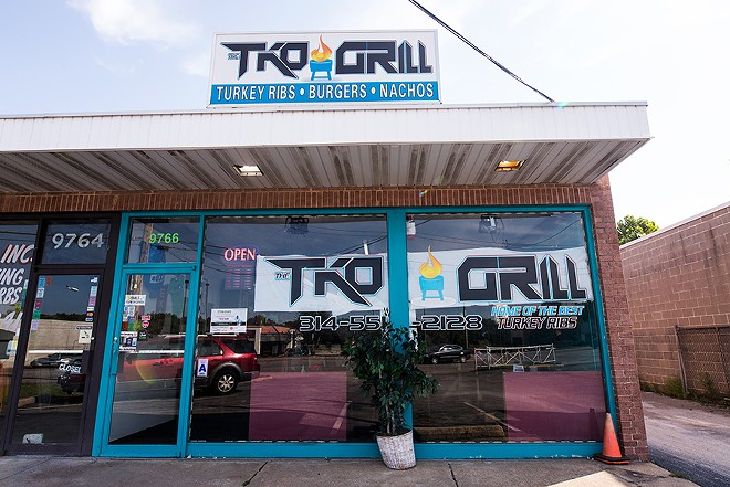 Located in Breckenridge Hills, TKO Grill operates next door to Cozart's other business, TKO Salon. - MABEL SUEN
