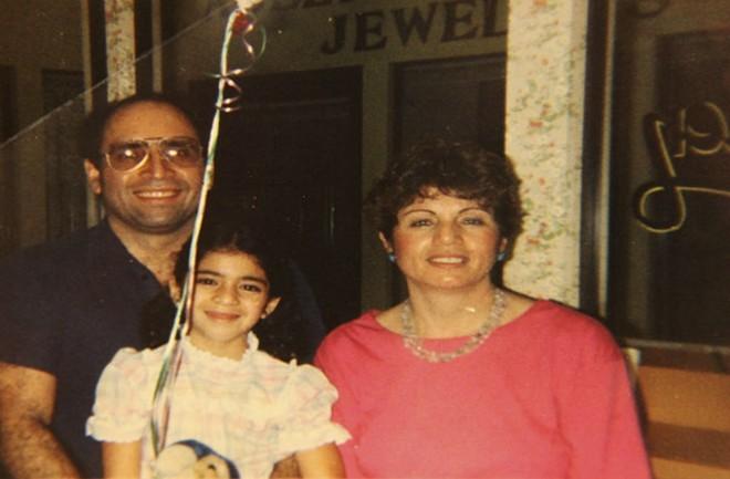 Behshid, Natasha and Hamishe Bahrami outside of The Little Kitchen. - COURTESY BAHRAMI FAMILY