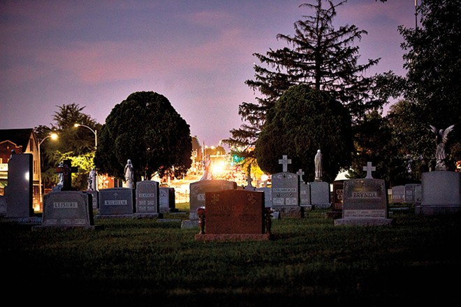 The graveyards add their own character to a landscape that stands out in the city. - THEO WELLING