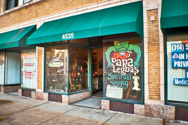 Papa Legba's Spiritual Supply begs a look. - THEO WELLING