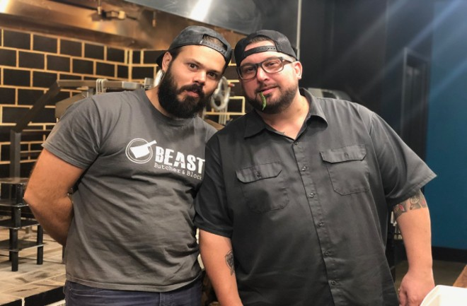 Ryan McDonald (pictured left) and Bob Brazell are teaming up for the collaboration dinner this Friday. - COURTESY BEAST CRAFT BQQ CO.