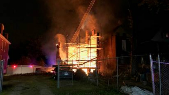 An arson in a vacant building spread next door to occupied apartments in the 5100 block of Enright. - CRIMESTOPPERS
