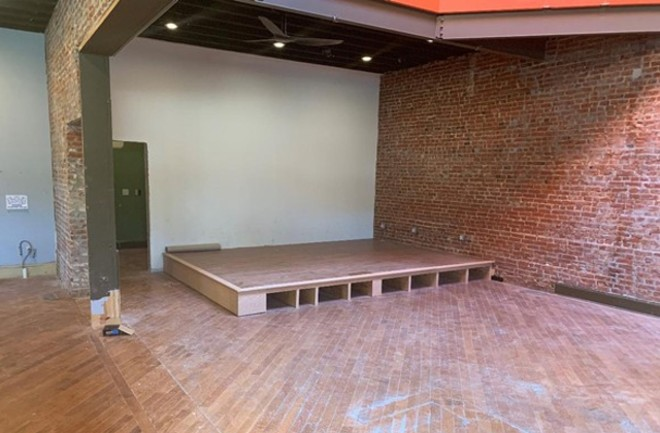 A sneak peek at the Blue Strawberry stage. - COURTESY BLUE STRAWBERRY SHOWROOM & LOUNGE
