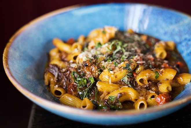 The short rib ragout is a masterpiece, comprised of rigatoni noodles, caramelized fennel and braised short ribs, it's what would happen if the most talented Italian grandmother home cook was asked to make pot roast. - MABEL SUEN