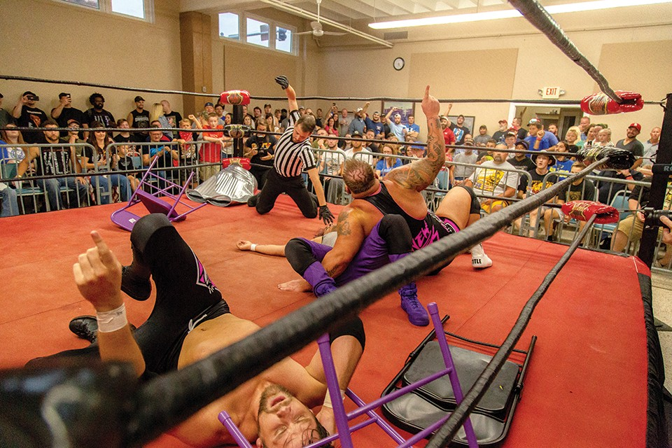 KLD and Adams hang on to win the United Glory tag-team championship title. - MONICA MILEUR