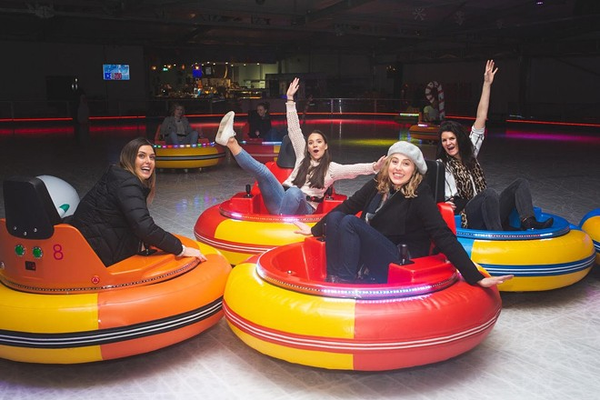 Frozen cocktails and gliding bumper cars are coming to St. Louis. - COURTESY BUMPER CARS ON ICE TOUR