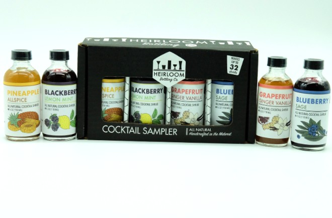Heirloom's shrub and cocktail syrup sampler pack. - COURTESY HEIRLOOM BOTTLING CO.