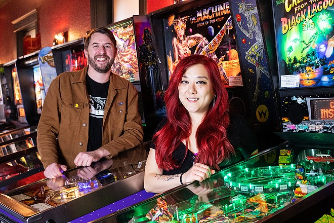 Chris Ward and Melanie Meyer, owners of Party Bear Pizza and Tiny Chef, respectively. - MABEL SUEN