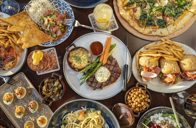 The Train Shed menu ranges from pizza and pasta dishes to burgers and steaks. - COURTESY OF LODGING HOSPITALITY MANAGEMENT