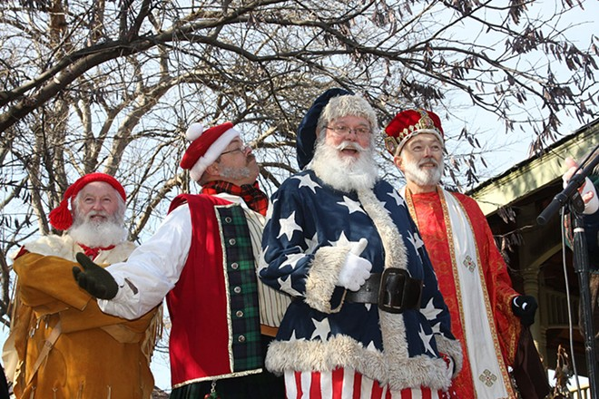 All the Santas will be in St. Charles this Friday. - COURTESY OF THE GREATER SAINT CHARLES CONVENTION AND VISITORS BUREAU
