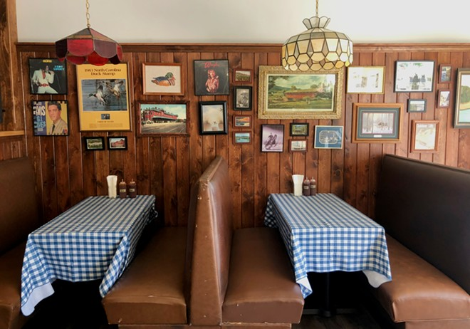 The dining room is straight out of your grandma's basement rec room. - LIZ MILLER