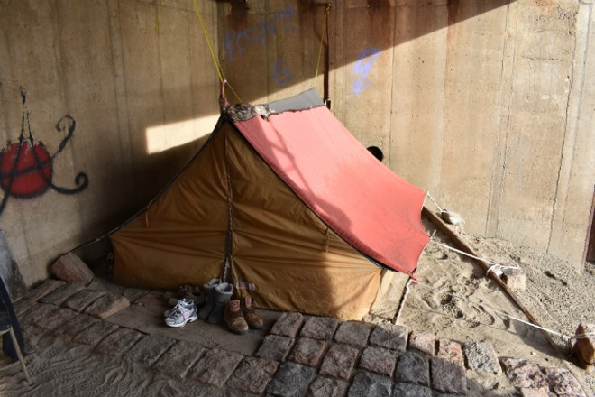 One of the tents where people lived during the winter of 2018. - DOYLE MURPHY