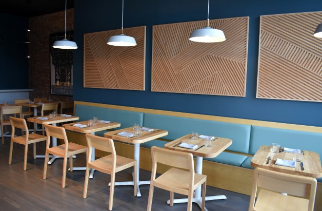 A peek at one of the two dining areas at Little Fox. - LIZ MILLER