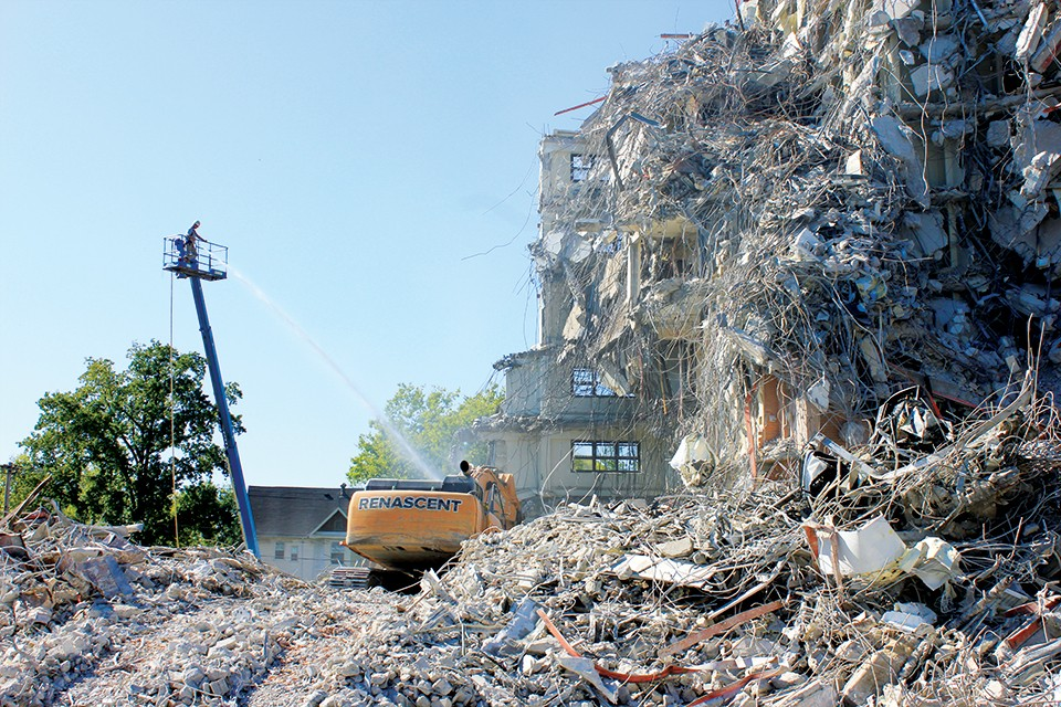 Brenton Tower's demolition reminds Rukivina Tower residents of their fate.