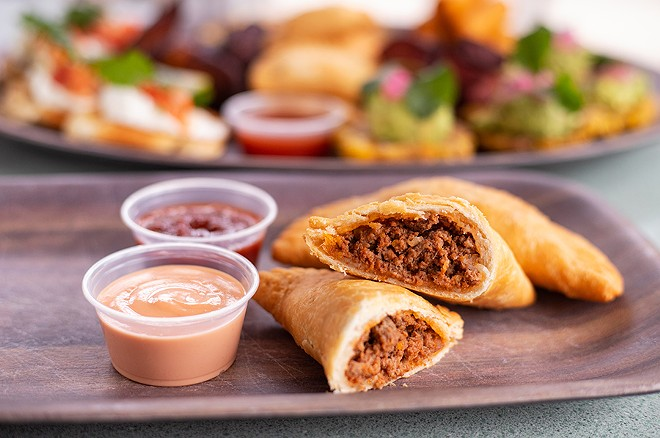Beef empanadas are made with hand-rolled dough filled with picadillo-style ground beef. - MABEL SUEN