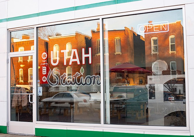 Utah Station is located inside a converted gas station in Benton Park. - MABEL SUEN