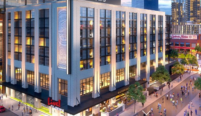 Live! by Loews will open in downtown St. Louis on February 26. - COURTESY LIVE! BY LOEWS