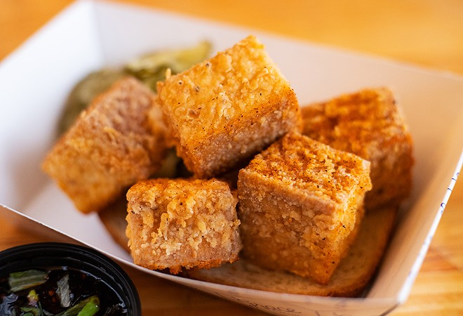 Grace's fried tofu is, unexpectedly, its best dish. - MABEL SUEN