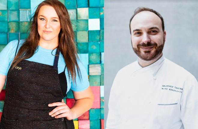 Balkan Treat Box chef-owner Loryn Nalic (left) will soon collaborate with Gramercy Tavern executive pastry chef Miro Uskokovic. - COURTESY BALKAN TREAT BOX
