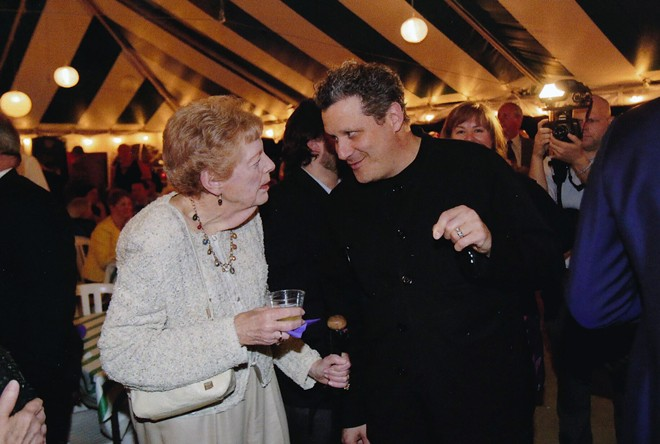 Phyllis Brissenden chats with Issac Mizrahi in 2014, the year he directed and designed costumes and sets for Opera Theatre of Saint Louis' production of The Magic Flute. - COURTESY OPERA THEATRE OF SAINT LOUIS