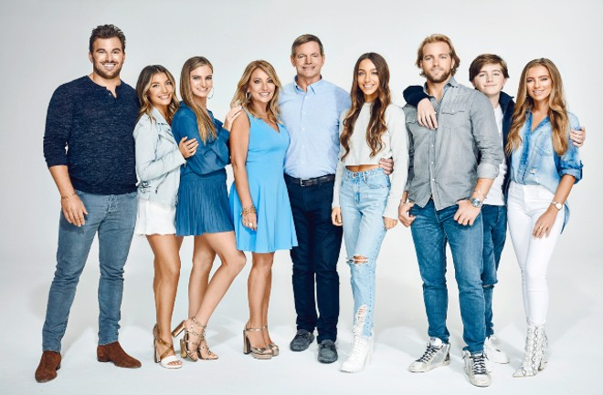 The Busch family, pictured from left to right: Billy Jr., Haley, Abbey, Christi, Billy Sr., Maddie, Gussie, Peter and Grace. - COURTESY MTV