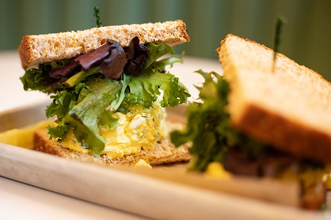 The restaurant's egg salad sandwich. - MABEL SUEN