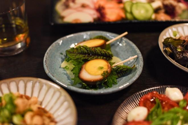 Soy-pickled egg (tamago shoyuzuke). - TRENTON ALMGREN-DAVIS