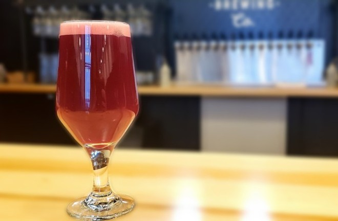 Another peek at Wellspent's new blackberry sour. - KRISTEN FARRAH