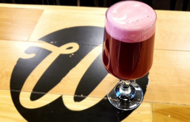 "Wellspent's blackberry sour is part of the brewery's ""On the Bright Side"" collection. - KRISTEN FARRAH"