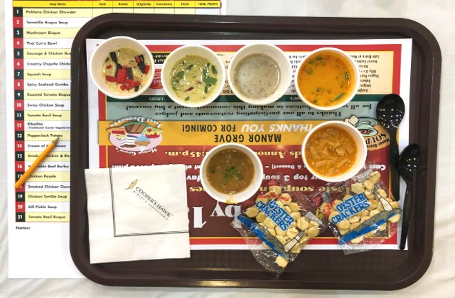 Sample 22 soups and then vote for your favorite. - LIZ MILLER