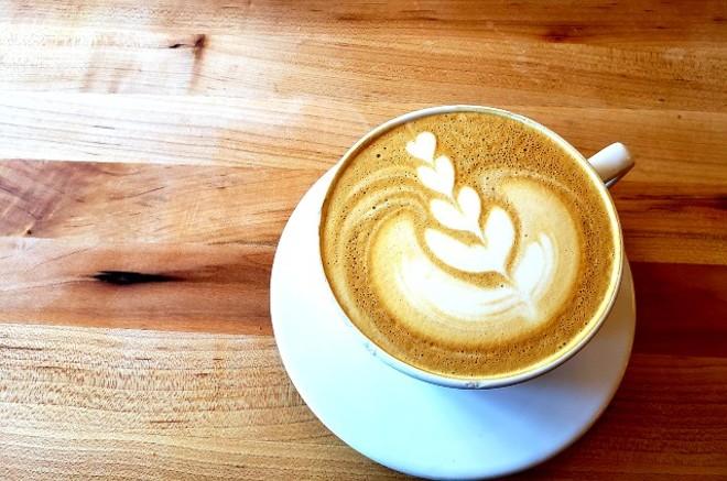 Rise serves various flavored lattes. - KRISTEN FARRAH